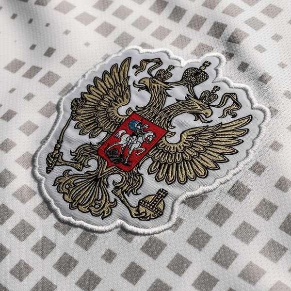 Детская футболка Сборная России гостевая сезон 2018/19 Дзюба 22